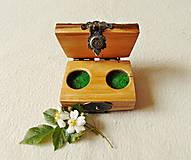 Krabičky - Drevená krabička na prstene Čarovné polienko - 12014471_