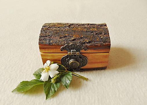 Drevená krabička na prstene Čarovné polienko