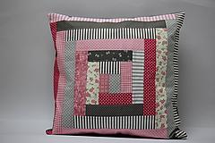 Úžitkový textil - Polštář patchwork 2. - 12012349_