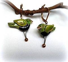 Náušnice - Keramické náušnice - vtáčiky - 12015206_