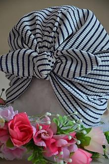 Detské čiapky - Čiapočka TURBAN- VÝPREDAJ (40 - 44 cm,6-18 mes. - Pestrofarebná) - 12014217_