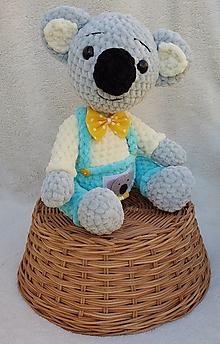 Hračky - Háčkovaný pán Koala - 12014555_