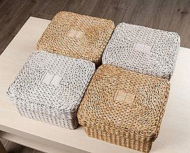 Krabičky - Krabičky s vrchnákom (veľkosť A - 20 x 22 x 12 cm (s vrchnákom cca 22 x 24 x 13 cm)) - 12012342_