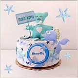 "Detské doplnky - MINI tortička ""OCEAN BLUE"" - 12012045_"