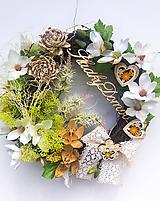 Dekorácie - Veniec sladký domov - 12012684_