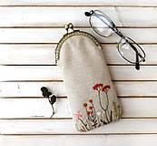 Taštičky - Púzdro na okuliare Lúčne rastlinky - 12011788_