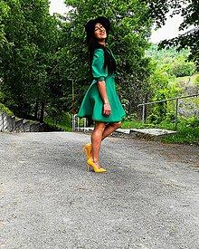 Šaty - Zelené zavinovacie šaty - 12011953_