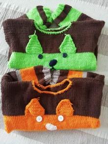 Detské oblečenie - Veselý pulóvrik s ušami - 12012288_