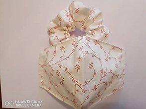 Rúška - Set tvarované rúško s gumičkou _staroruže kvietky - 12012271_