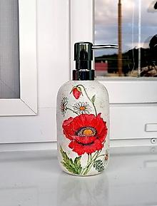 Nádoby - dávkovač na mydlo vlčí mak - 12015095_