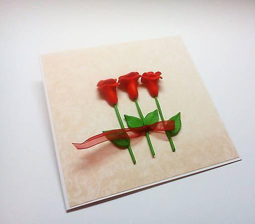 Pohľadnica ... ruže