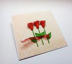 Papiernictvo - Pohľadnica ... ruže - 12018934_