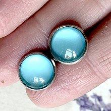 Náušnice - Color Stainless Steel Earrings / Farebné náušnice z chirurgickej ocele (11 Modrá svetlá) - 12015648_