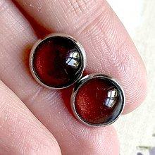 Náušnice - Color Stainless Steel Earrings / Farebné náušnice z chirurgickej ocele (12 Hnedá) - 12016379_