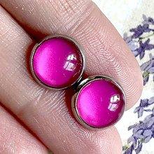 Náušnice - Color Stainless Steel Earrings / Farebné náušnice z chirurgickej ocele (14 Ružová) - 12016385_