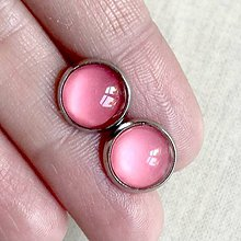 Náušnice - Color Stainless Steel Earrings / Farebné náušnice z chirurgickej ocele (15 Ružová púdrová) - 12016386_