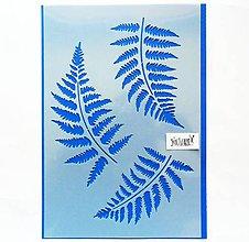 Pomôcky/Nástroje - Šablóna - 20x30 cm, papradie, les, listy - 12017260_