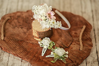 Ozdoby do vlasov - Kvetinové biele pukačky - 12018407_