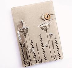 Papiernictvo - Zápisník A5 - Natur (100%ľan) - 12018645_