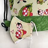 Detské tašky - Detský batoh s lienkami + rúško - 12017996_