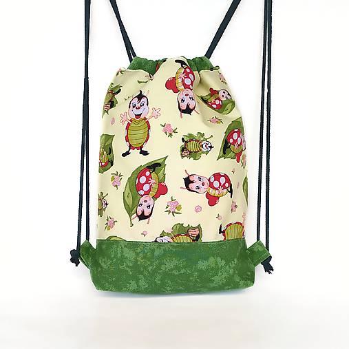 Detský batoh s lienkami + rúško