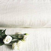 Textil - jemný splývavý 100 % ľan Litva, šírka 140 cm - 12015417_