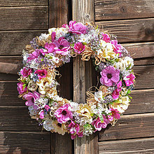 Dekorácie - Pestrý letný veniec na dvere - 12017896_