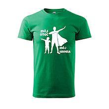 Oblečenie - Môj otec, môj hrdina - pánske tričko pre otca - 12018356_