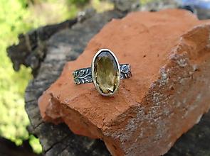 Prstene - Strieborny prsteň Ag 925 Citrín - 12015928_