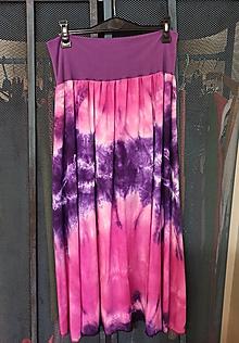 Sukne - Sukňa batikovaná fialová - 12017150_