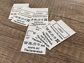 Galantéria - Potlač textilnej etikety - saténovej - 1000ks - 12016777_
