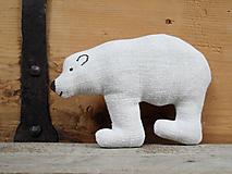 Dekorácie - Oravský ľanový medveď - 12017085_