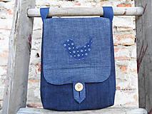 Iné tašky - Rifľová kapsička s pravou modrotlačou - 12018183_