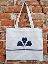 Nákupné tašky - Menšia ľanová taška so zipsom - 12018272_