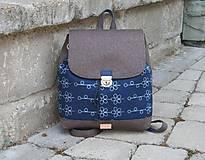 Batohy - modrotlačový batoh Martin hnedý 3 - 12015980_