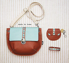 Kabelky - Mini leather collection no.8 - 12016567_