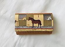 Peňaženky - Peňaženka - kone - 12015439_