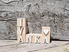 Hračky - drevené kocky - 12020659_
