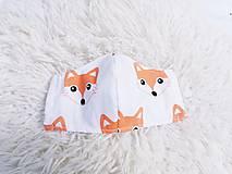 Rúška - Ochranné rúško na tvár detské 3-10 rokov oranžové líšky - 12019977_