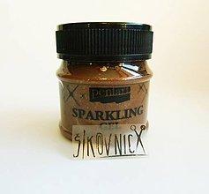 Farby-laky - Trblietavý gel (sparkling gel), 50 ml, (hnedé zlato) - 12020829_