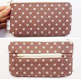 Peňaženky - Peňaženka - Kvietky na staroružovej - 12020771_