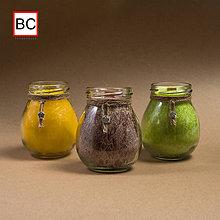 Svietidlá a sviečky - Sviečky v skle s drievkom - 12022236_