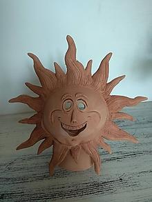 Svietidlá a sviečky - Keramické slnko-aromasvietnik - 12019605_