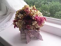 Dekorácie - Kvetinová krabička prírodná ... ďakujem ... - 12020227_
