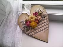 Dekorácie - Drevené srdiečko 1... pani učiteľke ♥ - 12020281_