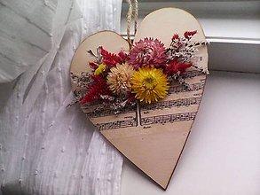 Dekorácie - Drevené srdiečko 2... pani učiteľke ♥ - 12020311_