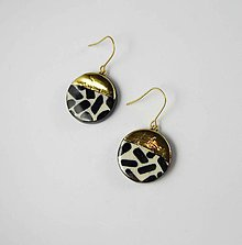 Náušnice - TANA hand made jewellery - keramika/zlato - 12020830_
