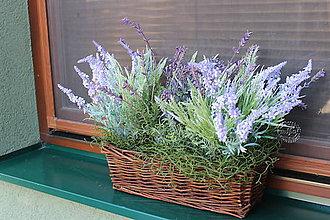 Dekorácie - levanduľový košík_lavender basket - 12021262_