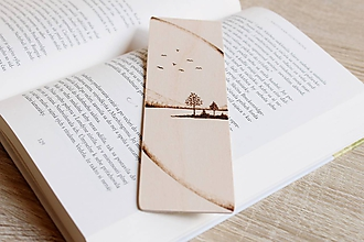 """Papiernictvo - Drevená záložka do knihy """"V lone prírody"""" - 12021501_"""