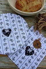Úžitkový textil - Čiapka na ošatku+ vrecúško - 12020762_